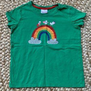 Hanna Andersson rainbow tee size 150